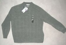 NWT Mens GEOFFREY BEENE Gray Marl ACRYLIC SWEATER Polo Style SIZE XXL 2XL