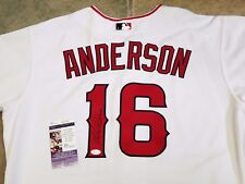 GARRET ANDERSON LA ANGELS - SIGNED - 2005 SET 2 -  BASEBALL GAME JERSEY ALL STAR