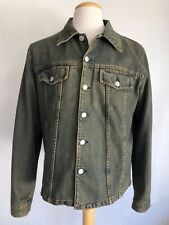 HELMUT LANG Vintage Stained Denim Jean Jacket Men's Size 52 Large