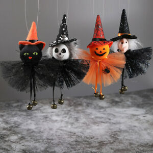 Halloween Hanging Pendant Ornaments Scary Ghost Black Cat Witch Home Party Decor