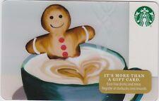 Starbucks Gingerbread Man Bathing Coffee / Cocoa / Latte Winter 2016 Gift Card