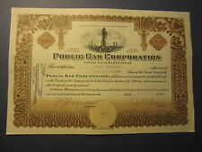 Old Vintage 1925 - PUBLIC GAS CORPORATION - Stock Certificate - Oil Well