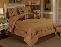 Texas Star Western Cowboy Luxory Comforter Suede - 7 Piece Set (Oversized Queen)