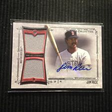 2015 TOPPS MUSEUM JIM RICE *AUTO 2 PIECE GAME JERSEY #3/75*  BOSTON RED SOX