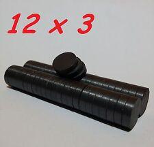 5 MAGNETI FERRITE 12X3 MM CALAMITA POTENTE FIMO CERAMICA MAGNETE CALAMITE