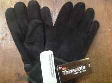 Men's Thermal Fleece Thinsulate Lined Gloves With Palm Grip M/l Post