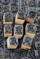 Wäschestempel Jugendstil Monogramm Initial Schablone Stempel aus 230 z. Auswahl