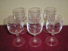 Lot de 6 verres a vin blanc en CRISTAL D'ARQUES modèle MATIGNON / Excellent état