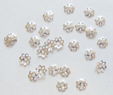 200 Filegree Bead Caps, Bead Cap Findings -  8mm, Silver Plated