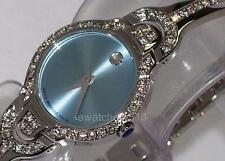 New Ladie's Movado kara blue 0605283 0.90ct.apx.custom set Movado Diamond Watch.