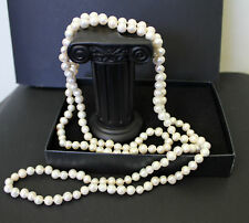 120 cm, Long Freshwater Pearl Necklace 120 cm, Handmade