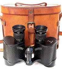 WWII RAF Binoculars - With Leather Case