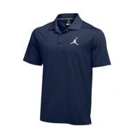 New Nike Court Dry Jordan Golf Polo Men's Large Basketball Navy Blue 865856-419