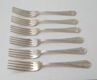 VINTAGE~CUTLERY ~ SET OF 6 FORKS ~ C.P. WALKER & Co Ltd. ~ E.P.N.S ~ SIZE 7.5""