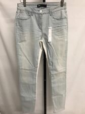 3X1 W2 CHANNEL SEAM ANKLE SKINNY JEANS LIGHT WASH BLUE WHITE SZ 28 NEW! $225