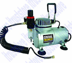 Electric Powered Quiet Small Compressor Airbrush Works with All Airbrushes