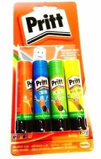 Pritt Stick 4x10g - Pack of 4 Colourful Rainbow Glue Sticks