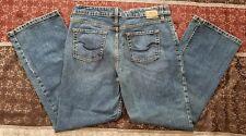 Womens Levi Strauss Signature Stretch Mid Rise Bootcut Blue Jeans Size 12 Medium