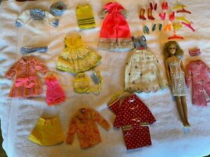 Vintage Francie doll with clothing lot 1965