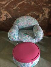 American Girl Doll Kanani Floral Chair Set