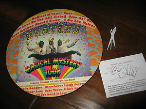 Vinyl Record CLOCK Wall Rock lp Beatles Magic Mystery Tour Gift Art Retro