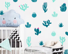Cactus Wall Decals Colorful Cacti Wall Stickers, Nursery Decals, Kids Decor