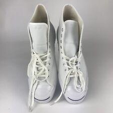 Converse Jack Purcell JP Signature Hi Triple White Canvas Size 12 153591C $120