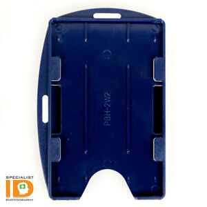 Open Face Two Card ID Badge Holder by Specialist ID - Vertical or Horizontal