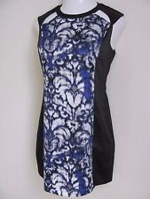 Eric & Lani black blue white gray dress nwot size L 10 12