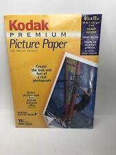 "Kodak # 824-5276 Premium Picture Paper 8.5"" X 11"", 15 Sheets High Gloss, NEW"