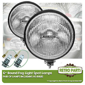 """6"""" Round Fog Spot Lamps for Renault Clio. Lights Main Beam Extra"""