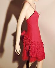 Giler Evening 6 Red Silk Dress NWOT Party Cocktail Spaghetti Straps Low Back