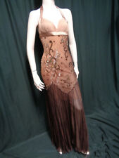 SHOWSTOPPER MAC DUGGAL BEADED SILK 1920s 30s REVISTED FLAPPER DRESS GOWN  S-M