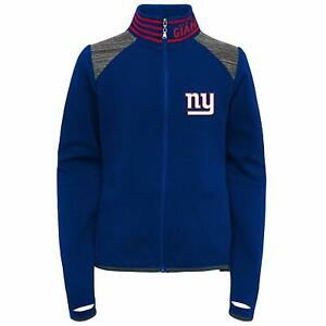 Outerstuff NFL Football Youth Girls New York Giants Aviator Full Zip Jacket