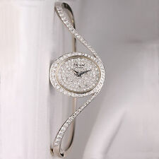 Chopard Pave Diamond Bangle 18K White Gold