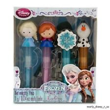 New Disney Store Exclusive Frozen Anna Elsa Olaf Snowflake Lip Gloss Set Boxed
