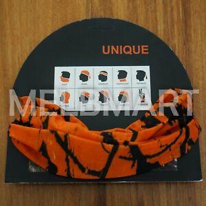 Orange Camo Bandana - Camouflage Neck Wrap Buff Face Mask deer Hunting hunter