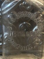 1/2 Pt. Whiskey Bottle-J.T.S. Brown & Sons Distillers-Louisville, KY 1871-1919