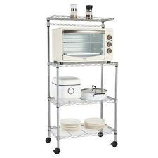 4-Tier Microwave Oven Rack Stand Storage Cart Kitchen Bakers Rack Utility Shelf