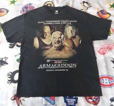 Armageddon Goldberg Kane Triple H 2003 T-Shirt XL wrestlemania XX WWE Raw Event