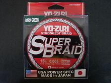 YO-ZURI SUPERBRAID Dark Green Fishing Line 15lb 300yd R1265-DG Super Braid