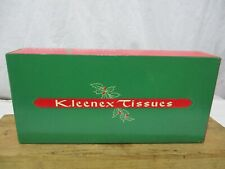 New Old Stock 1960 Kleenex Christmas Tissue Box Cover Green & Red Tissues