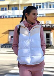 Nike Down Fill Gilet Vest 939442-838 Small Guava Ice - Reversible