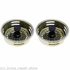 2 / $ 9 - FREE S&H! STAINLESS STEEL KITCHEN SINK DRAIN STRAINER BASKET & STOPPER
