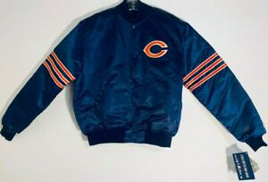 Chicago Bears Authentic Proline By Starter Official NFL  Large Blue Jacket