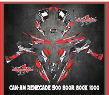 Can-Am Renegade 500 800r 800x 1000  SEMI CUSTOM GRAPHICS KIT Detox