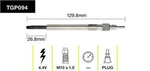 Tridon Glow Plug TGP094 fits Volkswagen Passat 2.0 TDI (3C2) 125kw, 2.0 TDI (...
