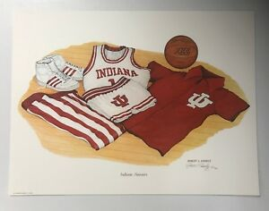 LOT of 19 - Indiana Basketball Lithograph Signed by Artist Robert Conley /1000
