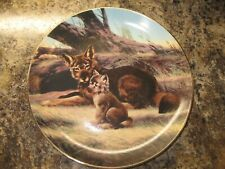 W.S. George Collector Plate ~ 1989 The Red Wolf ~ By Will Nelson ~ Coa