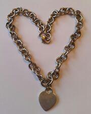 Massive Silberkette mit anhänger Herz.